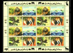 UNO Wien: 1999, Zdr.-Kleinbogen Gefährdete Arten VII (Tiere)