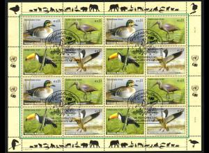 UNO Wien: 2003, Zdr.-Kleinbogen Gefährdete Arten XI (Vögel)