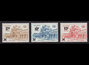 Belgien: 1970, Postpaketmarken: Überdruckausgabe Bahnhof Arlon