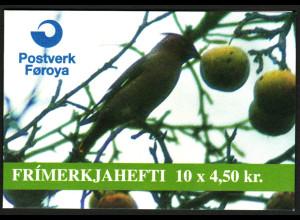 Färöer: 1996, Markenheftchen Invasionsvögel I