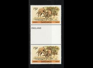Tansania: 1985, Giraffen (senkr. Zwischenstegpaar)