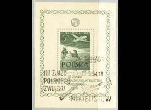 Polen: 1954, Blockausgabe zum Kongress des Philatelisten-Verbandes