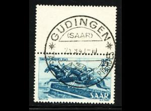Saarland: 1949, Pferde 25 + 15 Fr. Druckzufälligkeit