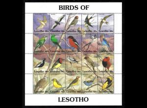 Lesotho: 1992, Kleinbogen Vögel