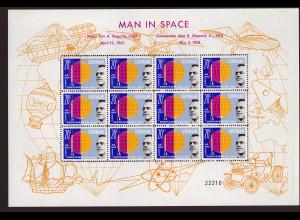 Surinam: 1961, Kleinbogensatz Weltraumflüge von Gagarin und Shepard (enthält 12 Sätze)