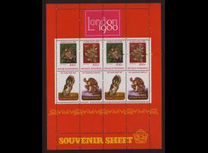 Indonesien: 1980, Blockausgabe Briefmarkenausstellung London (Einzelstück)
