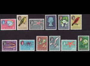 St. Helena: 1961, Freimarken Tiere (ohne Endwerte)