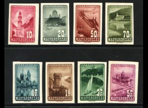 Ungarn: 1947, Flugmostmarken Sehenswürdigkeiten (ungezähnt)