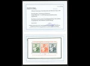 Bizone: 1949, Blockausgabe Exportmesse 30 Pfg. gute c-Farbe (Fotobefund BPP)