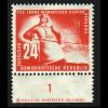DDR: 1950, Mansfelder Bergbau 24 Pfg. (Unterrandstück mit Druckereizeichen)