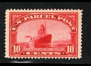 USA: 1912, Paketmarke: Schiffe 10 C. (postfrisch!!)