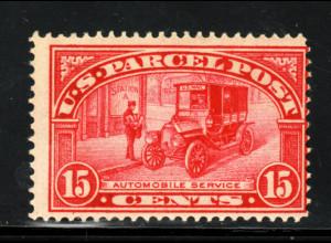 USA: 1912, Paketmarke: Postauto 15 C. (postfrisch!!)