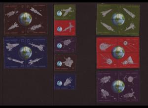 Kuba: 1964, Jahrestag Postraketenflug (Zusammendrucke)