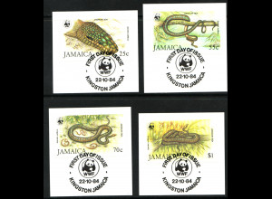 Jamaika: 1984, Schlangen (WWF-Ausgabe, Briefstücke mit Esst)