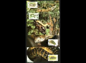 Jamaika: 1984, Maximumkarten Schlangen (WWF-Ausgabe)