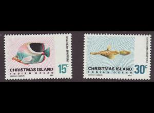 Weihnachtsinseln: 1970, Freimarkenergänzungswerte Meeresfische