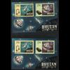 Bhutan: 1966, Blockpaar Fernmeldeunion UIT (Weltraummotive gez. und ungezähnt)