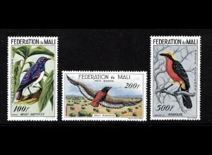 Mali: 1960, Flugpostausgabe Vögel