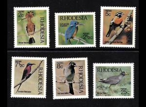 Simbabwe / Rhodesien: 1971, Einheimische Vögel