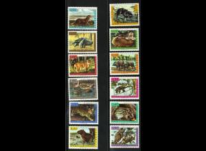 Venezuela: 1963, Freimarken Wildtiere