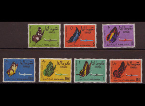 Somalia: 1961, Schmetterlinge (teilweise Gummifehler, M€ 34,-)