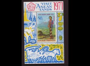 Indonesien: 1971, Blockausgabe Asiatisches Tourismusjahr
