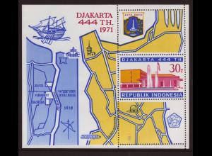 Indonesien: 1971, Blockausgabe Djakarta