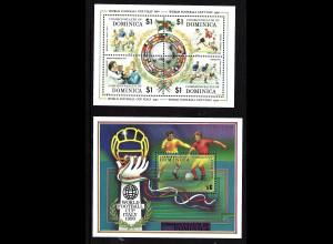 Dominica: 1989, Fußball-WM Italien (Spielszenen und Flaggen)