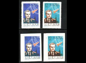Nord-Vietnam: 1961, Weltraumflug G. Titow (gez. und ungezähnt; ohne Gummi verausgabt)
