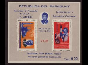 Paraguay: 1964, Blockausgabe Raumfahrt (gezähnt)