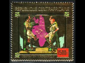 Zentralafrikanische Republik: 1980, Goldmarke Pfadfinder