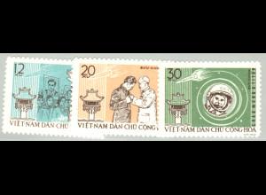Nord-Vietnam: 1962, Weltraumflieger G. Titow (ohne Gummi verausgabt)