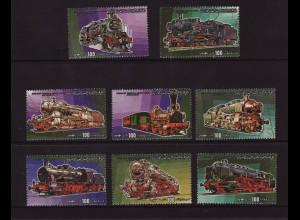 Libyen: 1984, Dampflokomotiven (Zusammendrucke aus Satz, Autowerte fehlen)