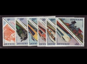 Surinam: 1985, Dreiecksmarken Lokomotiven (Zusammendrucke)