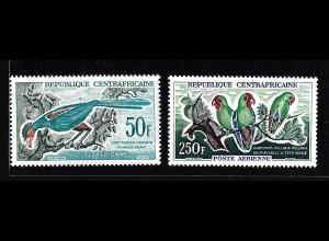 Zentralafrikanische Republik: 1962, Freimarken Vögel