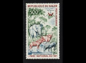 Niger: 1960, Freimarke Tiere (u. a. Elefant)