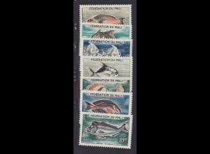 Mali: 1960, Freimarken Fische