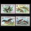 Mauritius: 1978, Tiere (WWF-Ausgabe)