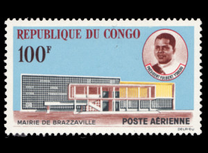 Kongo / Brazzaville: 1963, Rathaus von Brazzaville (M€ 180,-)