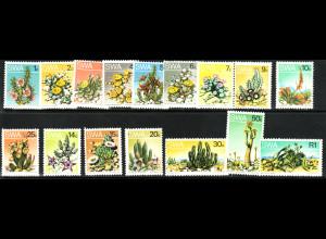 Südwestafrika: 1973, Freimarken Wüstenpflanzen
