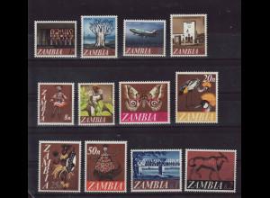 Sambia: 1968, Freimarken in Dezimalwährung
