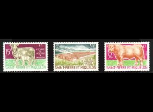 St. Pierre und Miquelon: 1970, Einheimische Tierzucht