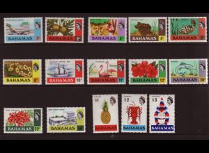 Bahamas: 1971, Freimarken (dabei auch viele Wassertiere)