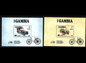 Gambia: 1986, Blockpaar Automobile