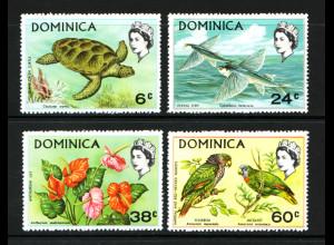 Dominika: 1970, Tiere
