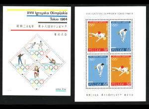 Polen: 1964, Blockpaar Sommerolympiade Tokio