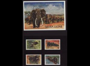 Sierra Leone: 1983, Schimpanse (WWF-Ausgabe, Afrikanischer Elefant)
