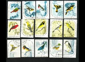 Kuba: 1965, Vögel (Einzelmarken)