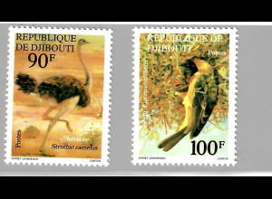 Dschibuti: 1977, Vögel