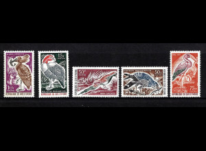 Elfenbeinküste: 1965, Freimarken Vögel